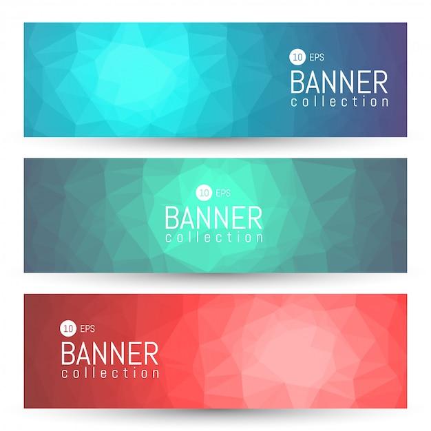 Banner e coleção de cabeçalhos Vetor Premium