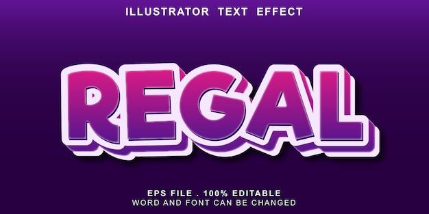 Banner editável de efeito de texto de logotipo real Vetor Premium
