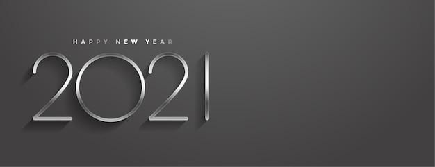 Banner elegante de estilo minimalista de feliz ano novo Vetor grátis