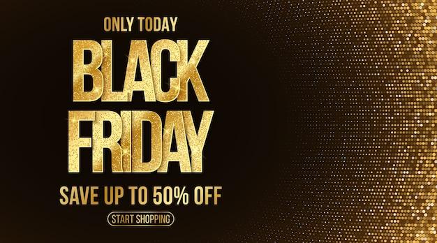 Banner elegante para venda da black friday. evento de desconto comercial. Vetor Premium