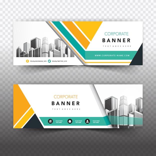 Banner empresarial criativo Vetor grátis