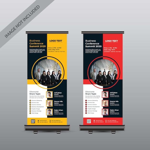 Banner enrolado para conferência Vetor Premium