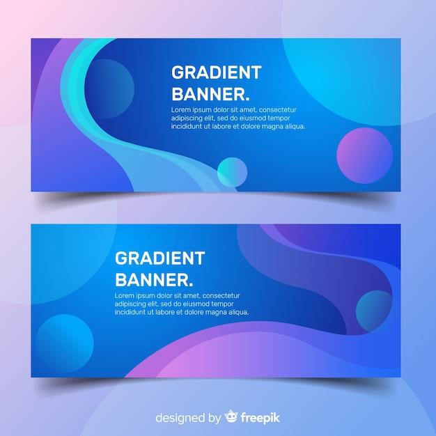 Banner gradiente Vetor grátis