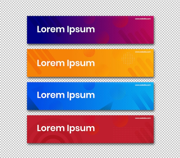 Banner horizontal com design abstrato de cor simples Vetor Premium