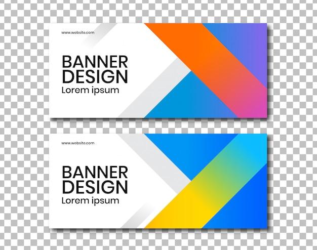 Banner horizontal com design de ângulo Vetor Premium