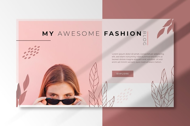 Banner horizontal de moda para blog Vetor grátis