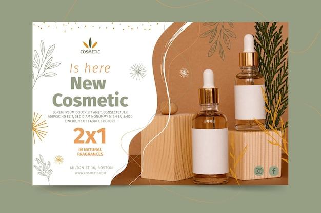 Banner horizontal para produtos cosméticos Vetor grátis