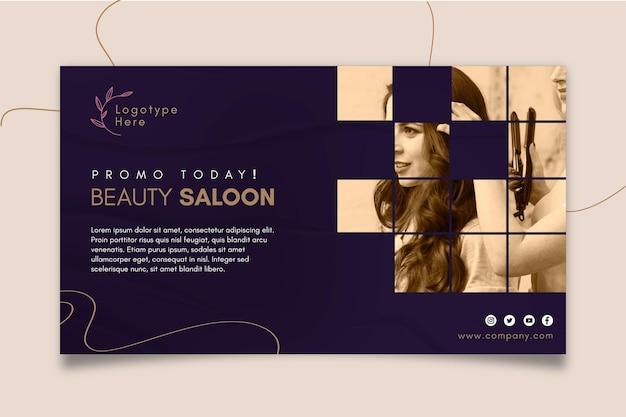 Banner horizontal para salão de beleza Vetor grátis