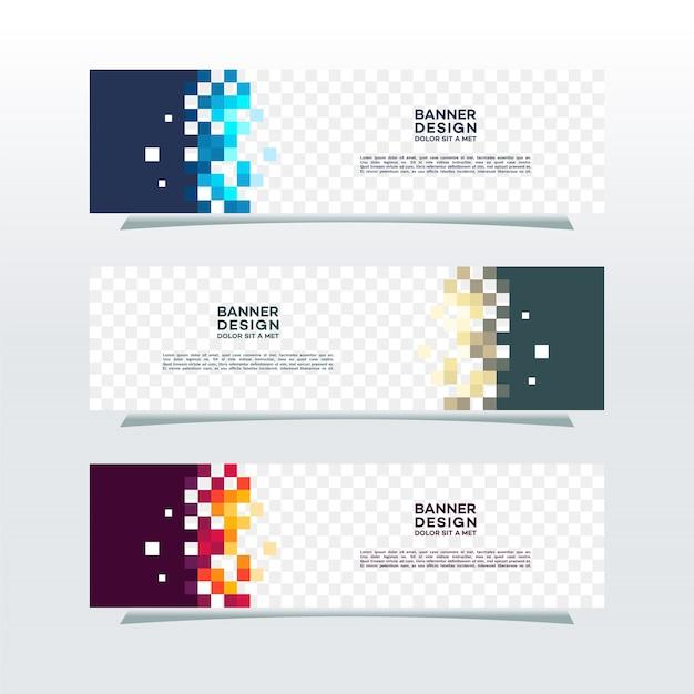 Banner horizontal web vector fundo transparente Vetor Premium