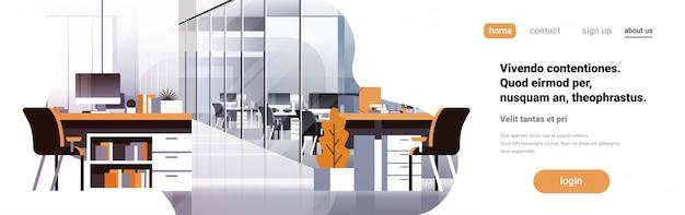 Banner interior do escritório de coworking Vetor Premium