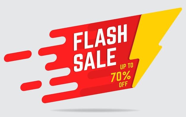 Banner plana de venda flash Vetor Premium