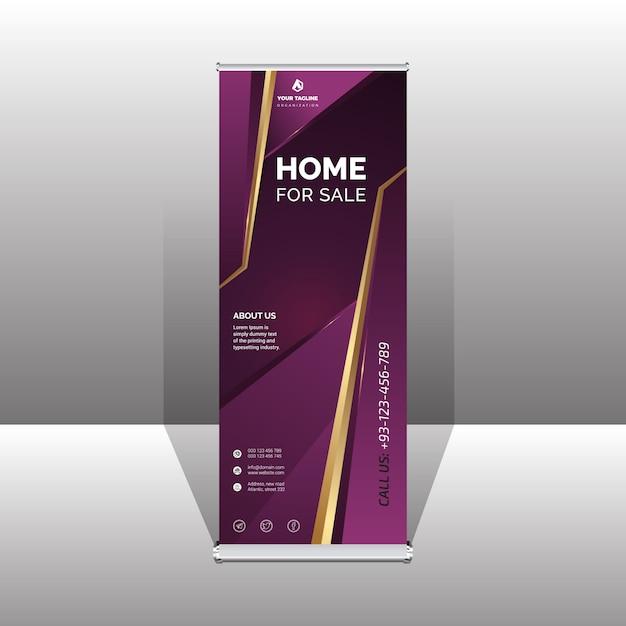 Banner profissional de enrolar Vetor Premium