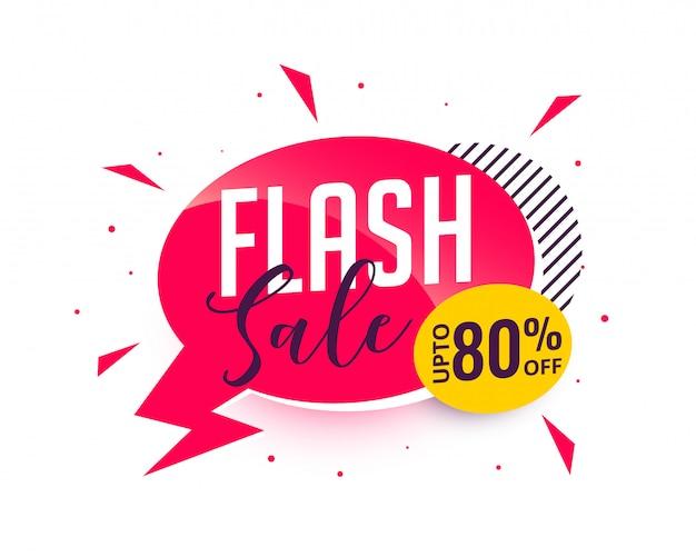 Banner promocional de venda em flash Vetor grátis