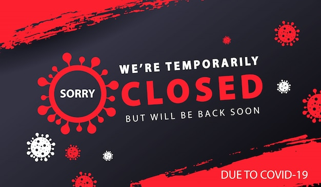 Banner temporariamente fechado Vetor grátis