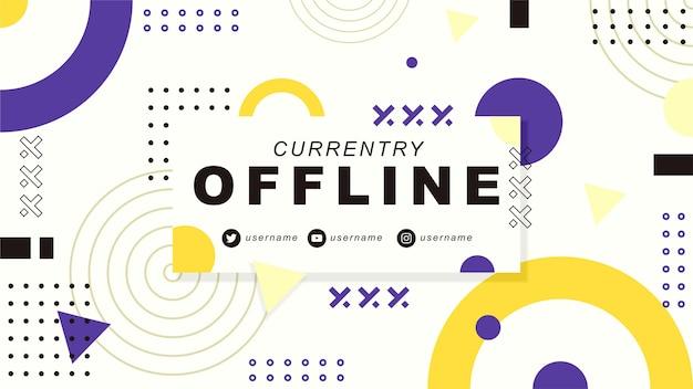 Banner twitch atualmente offline Vetor Premium