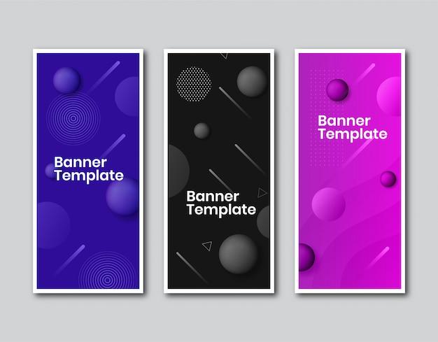 Banner vertical de negócios com design de bolha Vetor Premium