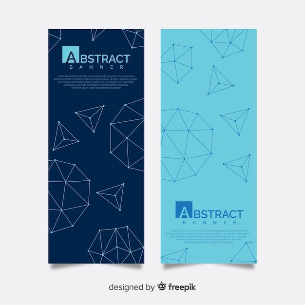 Banners abstratas elegantes com formas geométricas Vetor grátis