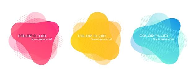 Banners abstratas gradientes. elementos líquidos líquidos. Vetor Premium