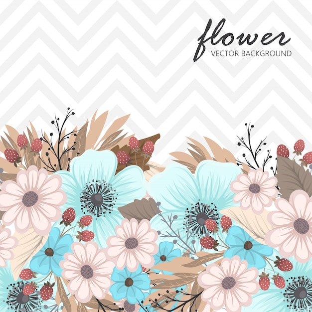 Banners botânicos vintage de vetor com flor Vetor grátis