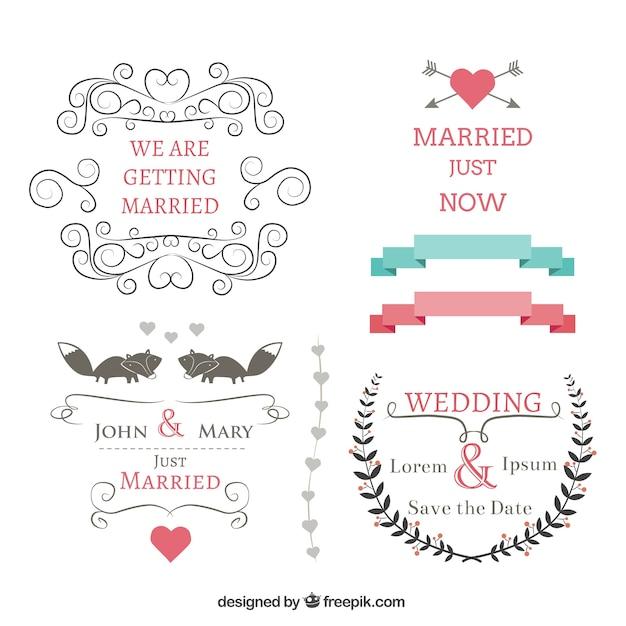 Banners casamento ajustadas baixar vetores gr tis for Scritte vintage