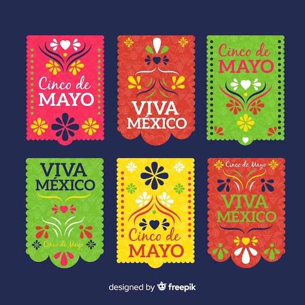 Banners cinco de mayo Vetor Premium