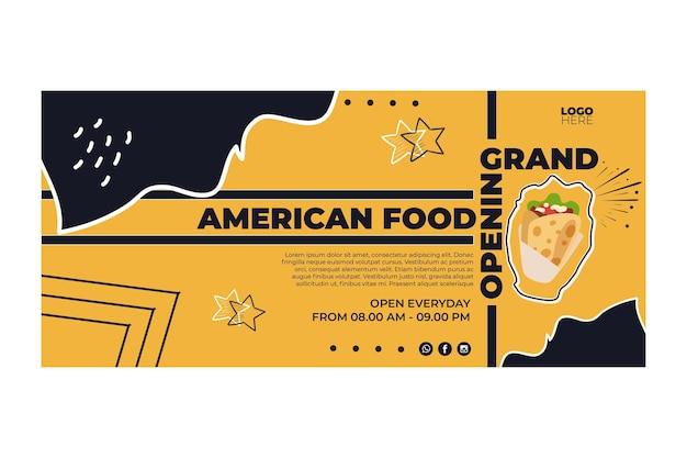 Banners de comida americana Vetor grátis