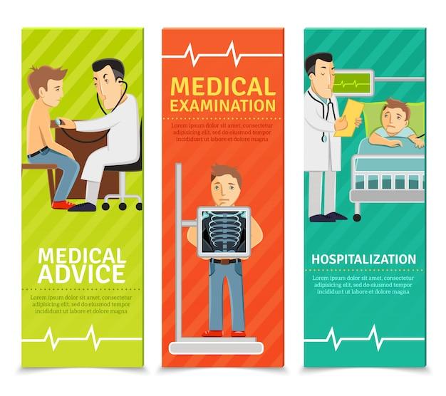 Banners de exames médicos Vetor grátis
