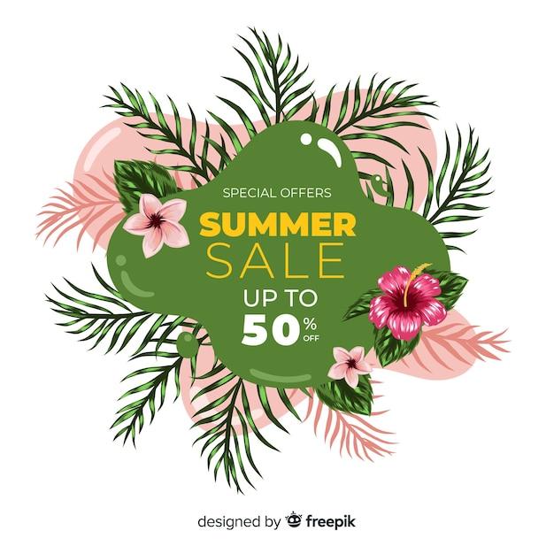 Banners de líquido de venda de verão Vetor grátis
