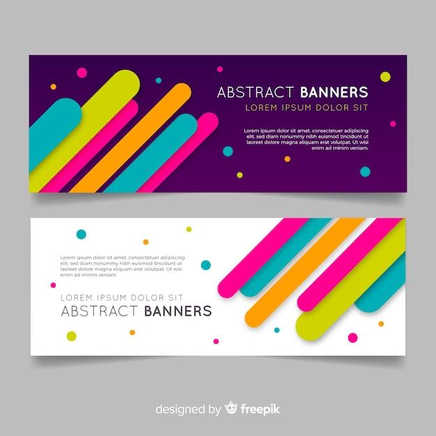 Banners de negócios abstratos Vetor grátis