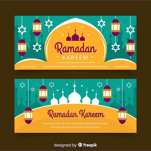 Banners de ramadã Vetor grátis