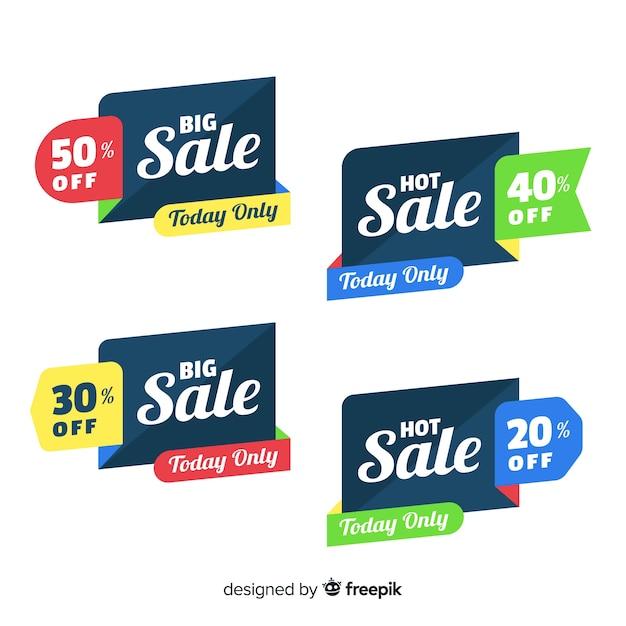 Banners de venda Vetor grátis