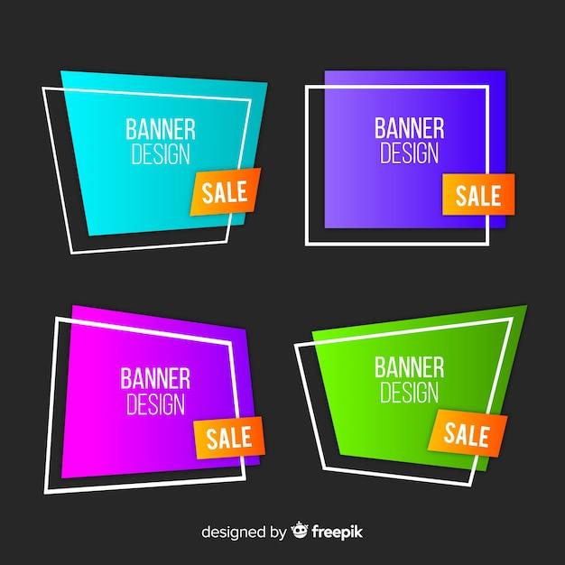 Banners de vendas Vetor grátis