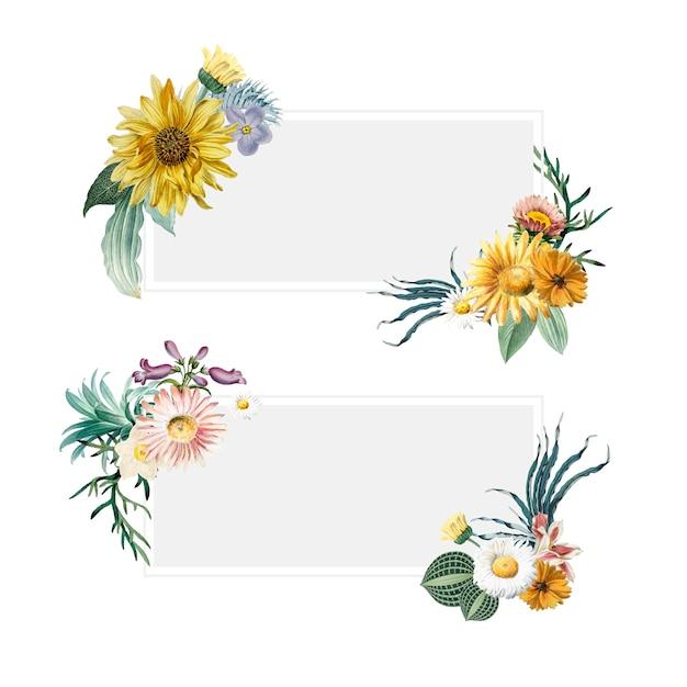 Banners de verão floral Vetor grátis