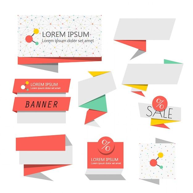 Banners de vetor abstrato. modelo de banners de venda Vetor Premium