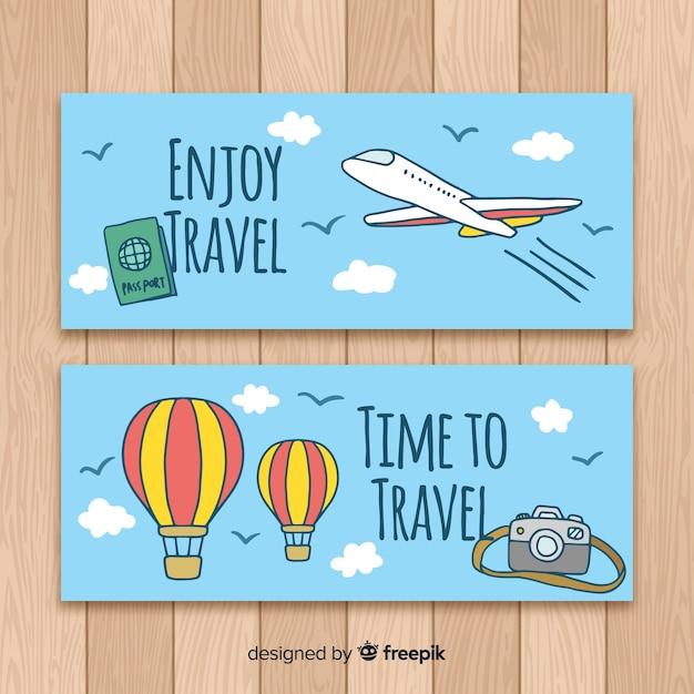 Banners de viagem Vetor grátis