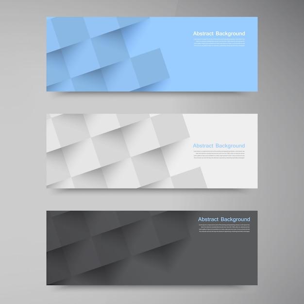 Banners e quadrados vetoriais. conjunto de cores Vetor grátis