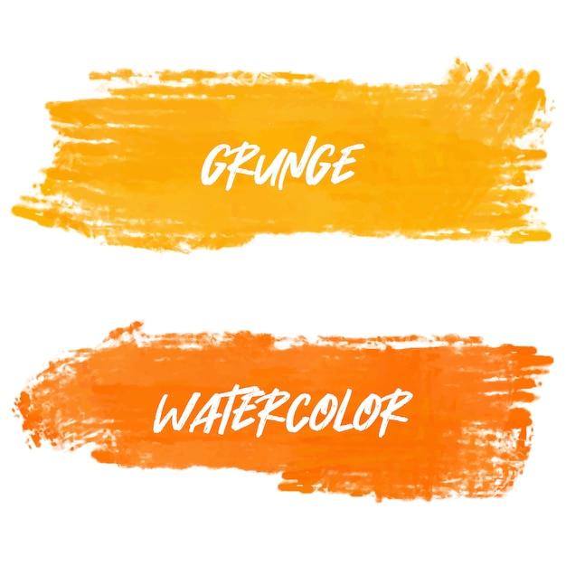 Banners em aquarela laranja Vetor grátis