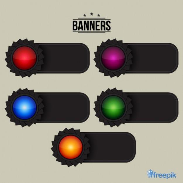 Banners engrenagem Vetor grátis