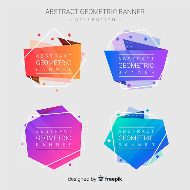 Banners geométricas abstratas Vetor grátis