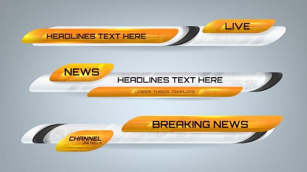 Banners gráficos de notícias Vetor Premium