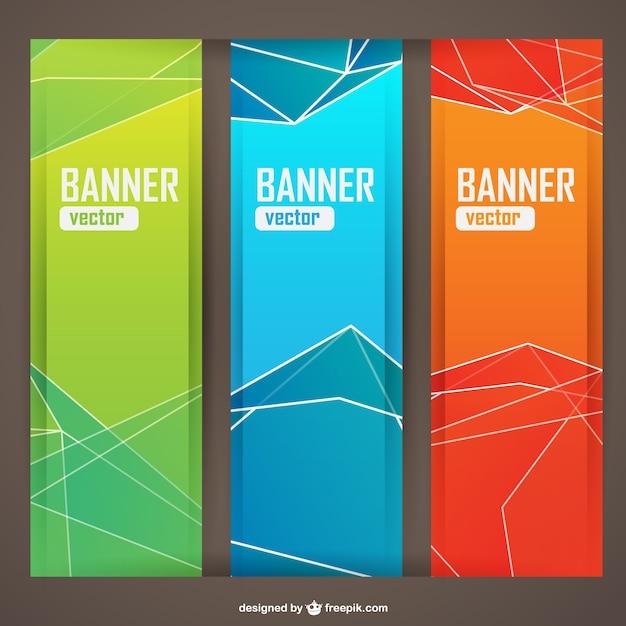 Banners gráficos vetoriais livres Vetor grátis
