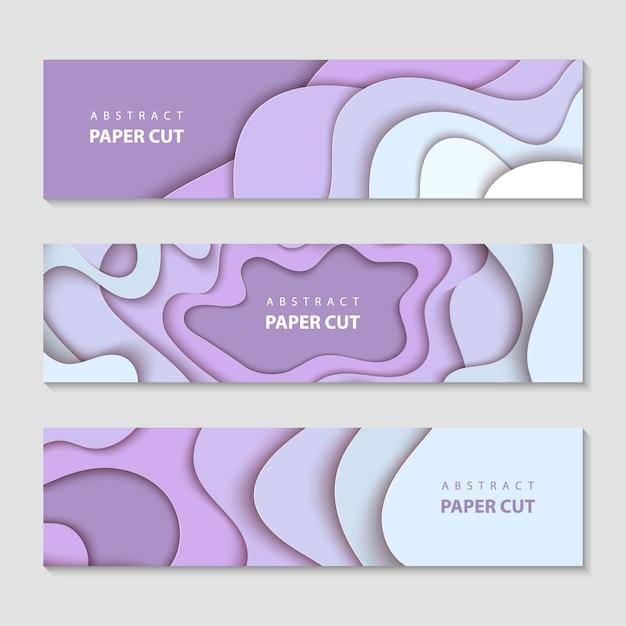 Banners horizontais, layout, design de mídias sociais Vetor Premium
