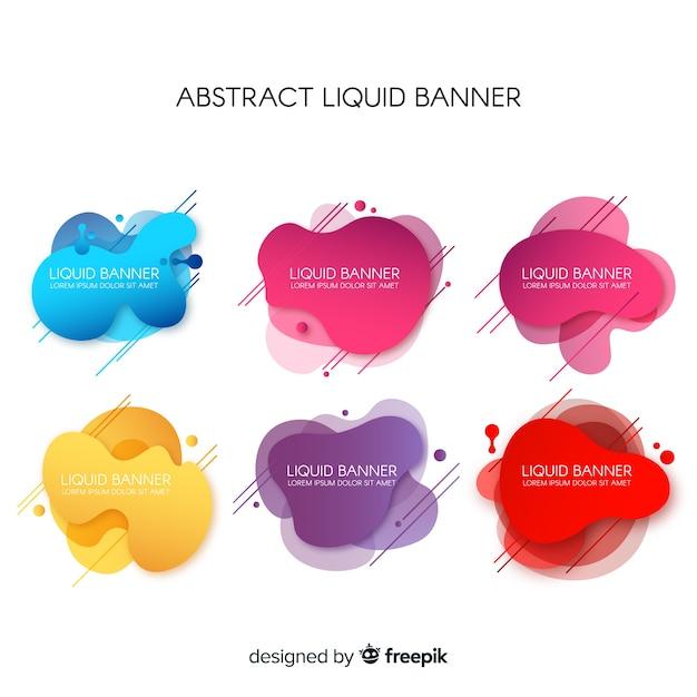 Banners líquidos abstratos Vetor grátis
