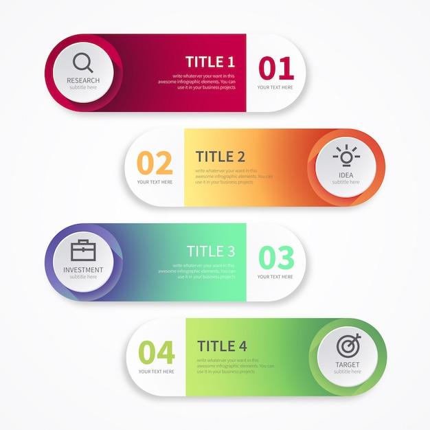 Banners modernos para infográficos Vetor grátis
