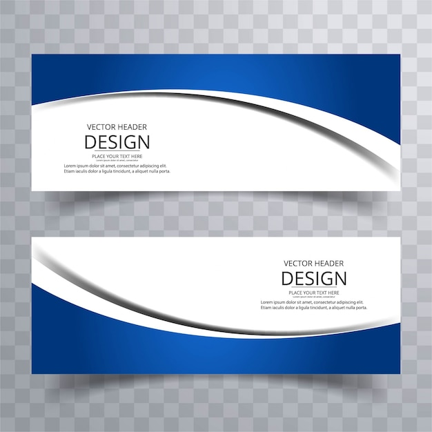 Banners ondulados modernos Vetor grátis