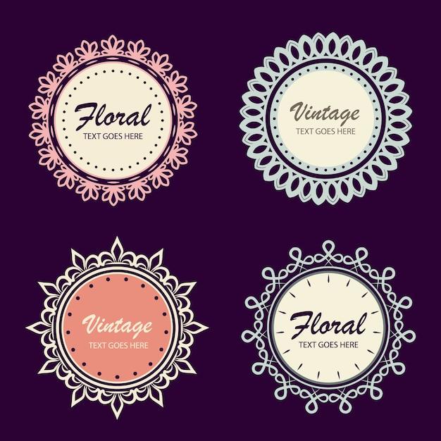 Banners ornamentais circulares Vetor grátis