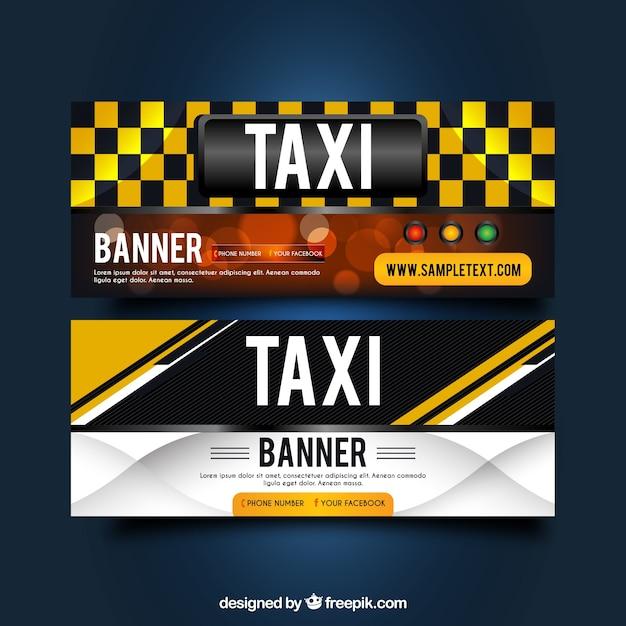 Banners táxi abstratas Vetor grátis