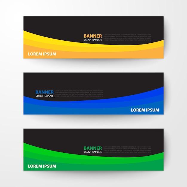 Banners web design modelo abstrato de fundo vector Vetor Premium