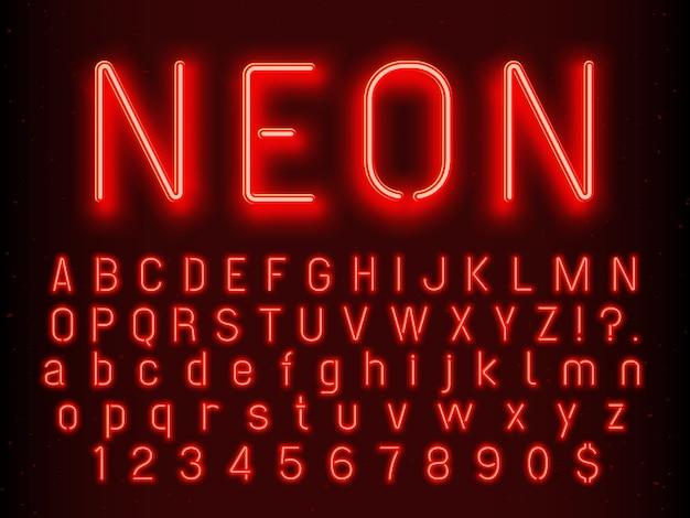 Bar ou casino brilhando elementos de sinal. Vetor Premium