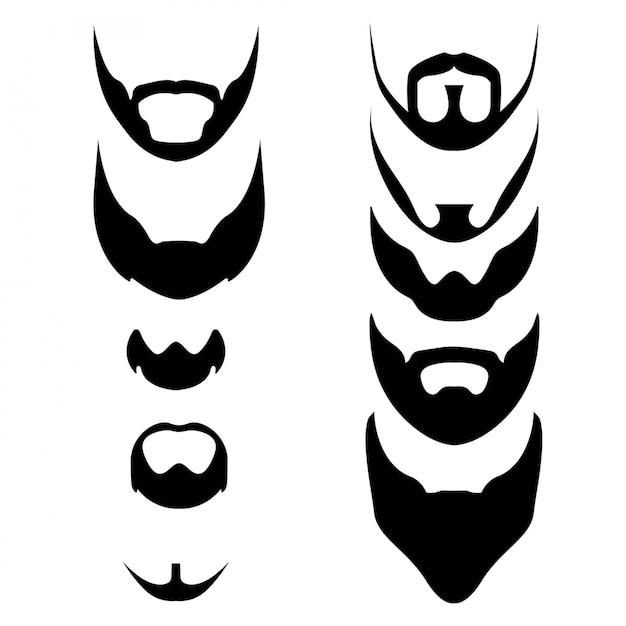 Barba Vetor Premium